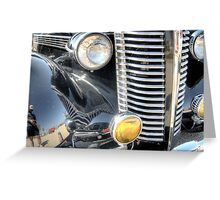 Classic Silver Front Grill Greeting Card