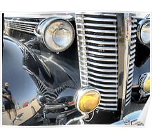 Classic Silver Front Grill Poster