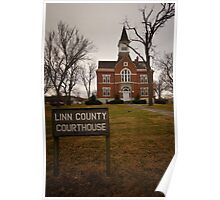 Linn County, Kansas, Courthouse Poster