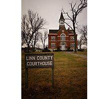 Linn County, Kansas, Courthouse Photographic Print