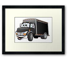 Delivery Truck Black Cartoon Framed Print