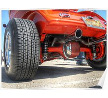 Rear End Of a Red Hot Rod Poster
