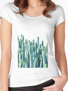Cactus V2 #redbubble #home #lifestyle #buyart #decor Women's Fitted Scoop T-Shirt