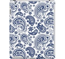 Blue And White Vintage Paisley Design iPad Case/Skin