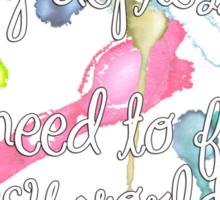 Reality Depresses Me - Noel Fielding Quote Sticker