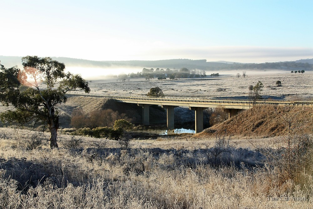 Burbong Bridge, Molonglo River, Kings Highway by Tim Coleman