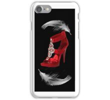 。◕‿◕。CLASSY RED SHOE WITH A FEATHERS TOUCH IPHONE CASE。◕‿◕。 iPhone Case/Skin