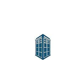 Doctor Who Tardis White Mini by MeepAndMushrat