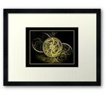 ©DA Fractal Time In Monochrome Framed Print
