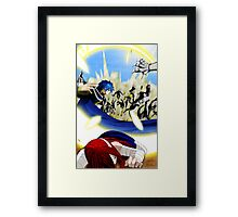 Fairy Tail Chapter 331- Jellal saves Erza Framed Print