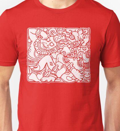 Fight Like A Mayan (White Print) Unisex T-Shirt