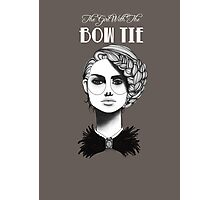 The Girl with the Bow Tie Photographic Print