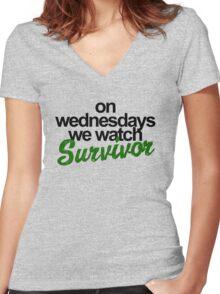 survivor Women's Fitted V-Neck T-Shirt