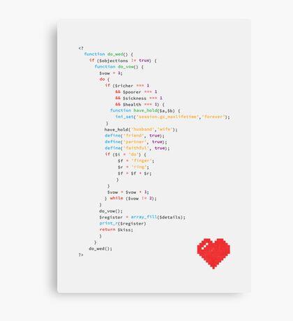 // the wedding code Canvas Print