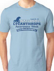 National Lycanthrope Awareness Week (Blue Print) Unisex T-Shirt