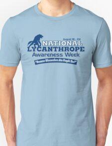 National Lycanthrope Awareness Week (Blue Print) T-Shirt