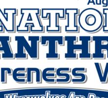 National Lycanthrope Awareness Week (Blue Print) Sticker