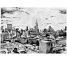Fingerprint - New York - Black ink Photographic Print