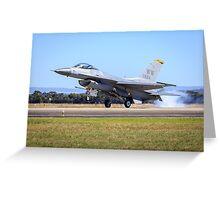 USAF F-16 Falcon Greeting Card