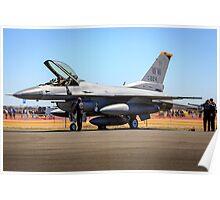 USAF F-16 Falcon Engine Run Poster