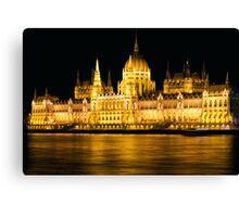 Budapest Parliament Night Shot Canvas Print