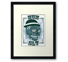 MUM VINTAGE SKULL T-SHIRT Framed Print