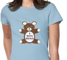 I wuv hugs Womens Fitted T-Shirt