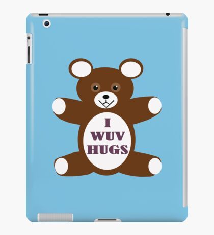 I wuv hugs iPad Case/Skin