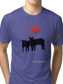 Love Lamb - Love Yorkshire - Silhouette  Tri-blend T-Shirt