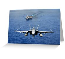 An F/A-18 Hornet demonstrates air power. Greeting Card