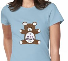 I wuv pie Womens Fitted T-Shirt
