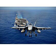 An F/A-18 Hornet demonstrates air power. Photographic Print