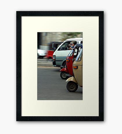 Tuk Tuk Photo Finish Framed Print