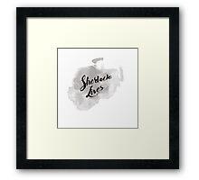 Sherlock Lives (BBC Sherlock Typography) Framed Print