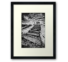 Fingerprint - Storm - Black ink Framed Print