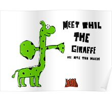 Phil the Giraffe Poster