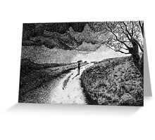 Fingerprint - Rain - Black ink Greeting Card