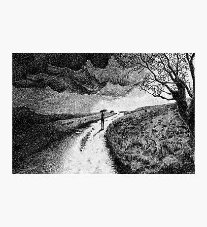 Fingerprint - Rain - Black ink Photographic Print