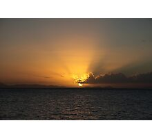 Sunset Over The Australian Mainland Photographic Print