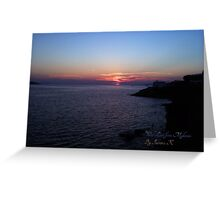 Sunset With Love From Mykonos Greeting Card