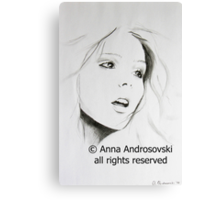 Sketch of a Beauty Canvas Print