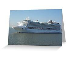 Azura P&O Cruise liner Greeting Card