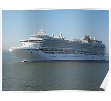 Azura P&O Cruise liner Poster