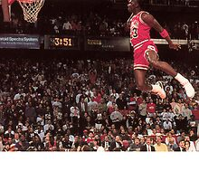 Michael Jordan dunk by jsipek