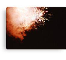 Fireworks - Lomo Canvas Print