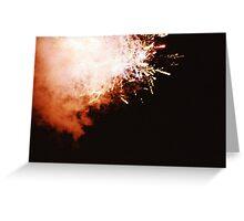 Fireworks - Lomo Greeting Card