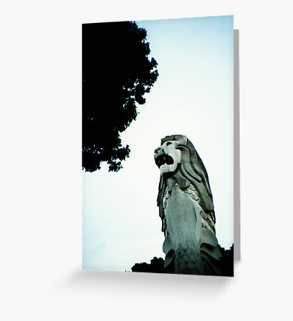 Merlion - Lomo Greeting Card
