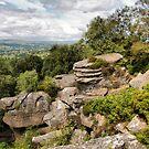 Brimham Rocks . by Irene  Burdell