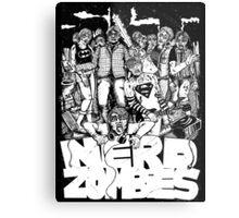 ZOMBIE NERDS T-SHIRT Metal Print