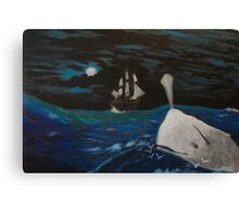 Moby Dick - Fateful Night Canvas Print